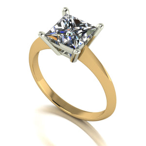 2.00ct (1x 7.0mm) Square Moissanite Set Single Stone Ring