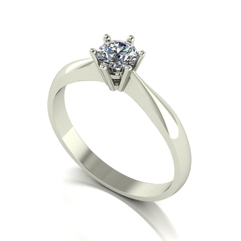 0.33ct (1x 4.5mm) Round Moissanite Set Single Stone Ring