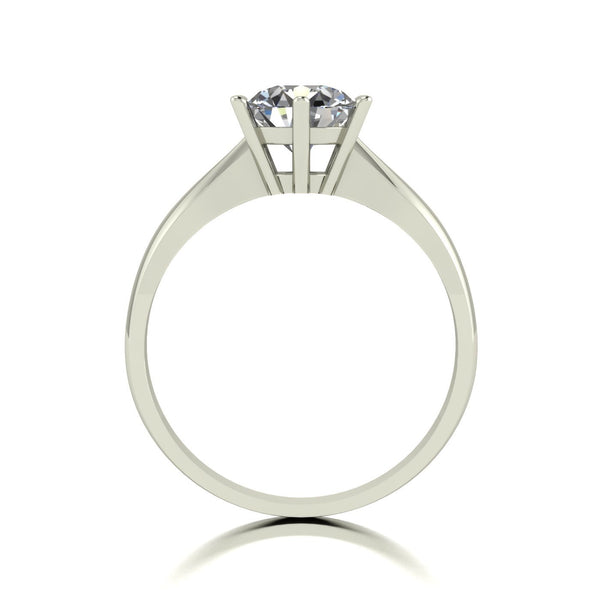 1.25ct (1x 7.0mm) Round Moissanite Set Single Stone Ring