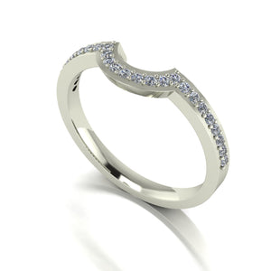 0.25ct (25x 1.3mm) Round Moissanite Set Eternity Ring