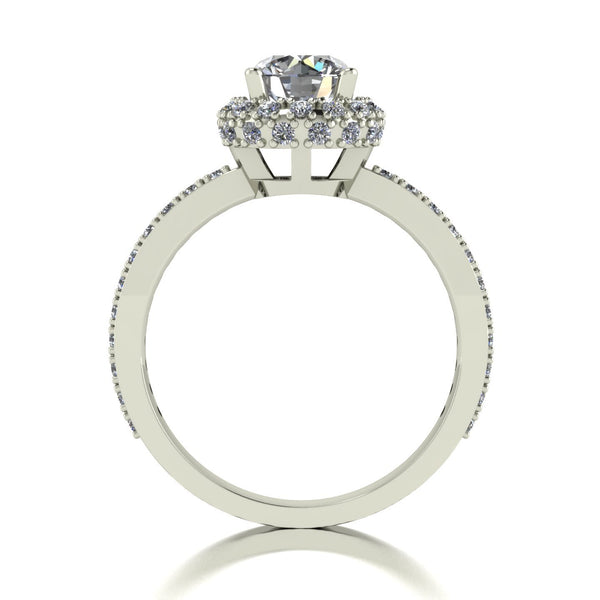 1.50ct (1x 6.5mm & 50x 1.3mm) Round Moissanite Set Cluster Ring