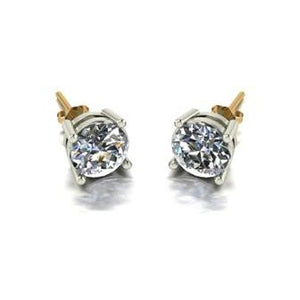 2.00ct (2x 6.5mm) Round Moissanite Set Earrings