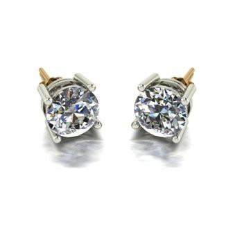 3.00ct (2x 7.5mm) Round Moissanite Set Earrings