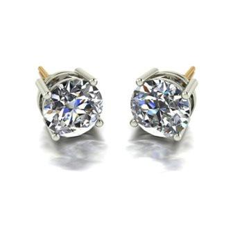 5.00ct (2x 8.5mm) Round Moissanite Set Earrings