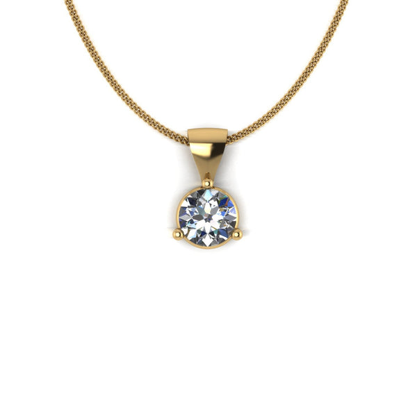 0.50ct (1x 5.0mm) Round Moissanite Set Pendant