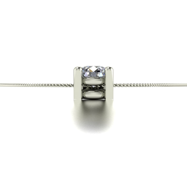 0.20ct (1x 3.5mm) Round Moissanite Set Pendant