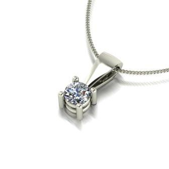 0.25ct (1x 4.0mm) Round Moissanite Set Pendant