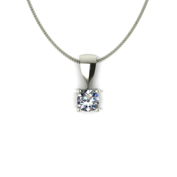 0.33ct (1x 4.5mm) Round Moissanite Set Pendant