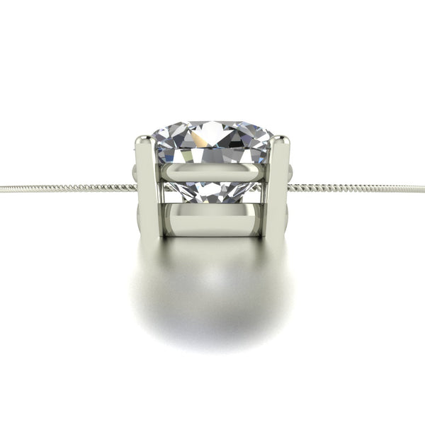 2.00ct (1x 8.0mm) Round Moissanite Set Pendant
