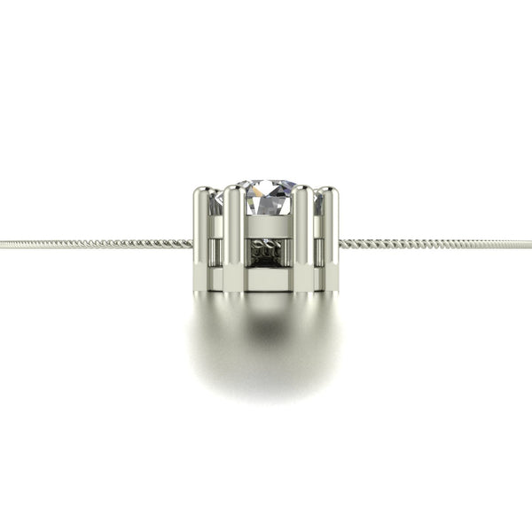 0.55ct (1x 4.0mm, 1x 3.5mm & 1x3.0mm) Round Moissanite Set Pendant