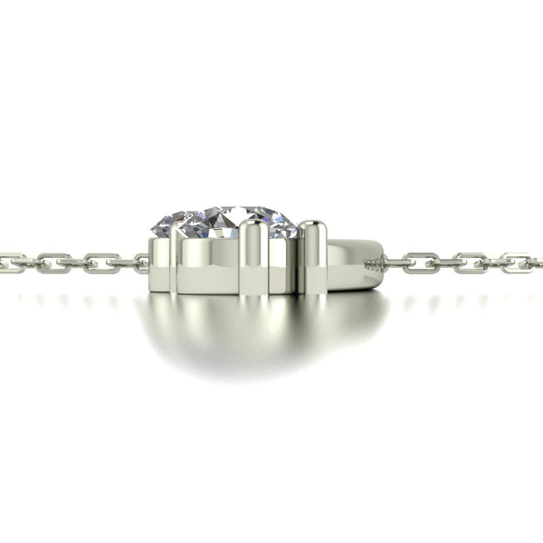 1.00ct (1x 3.0, 1x 3.25, 1x 3.5, 1x 4.0 & 1x 4.5mm) Round Moissanite Set Pendant
