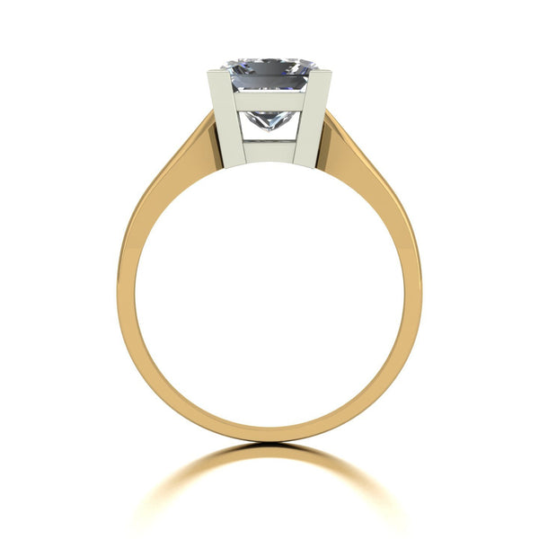 2.17ct (1x 7.0mm) Square Moissanite Set Single Stone Ring