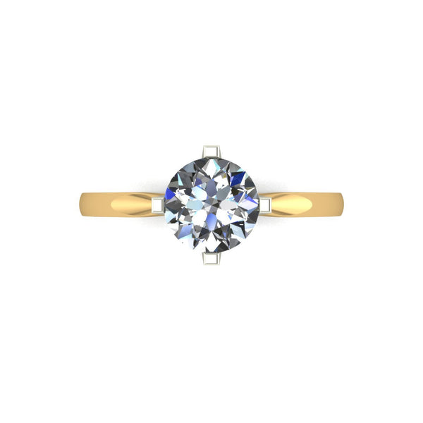 1.00ct (1x 6.5mm) Round Moissanite Set Single Stone Ring