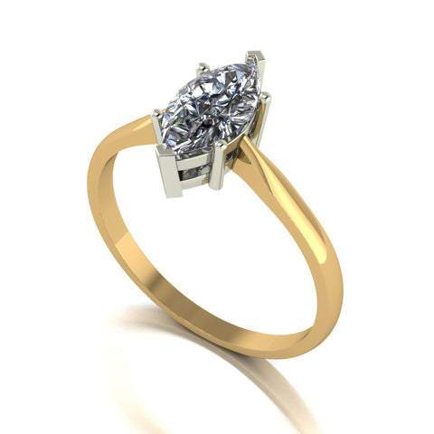 1.00ct (1x 10x5mm) Marquise Moissanite Set Single Stone Ring