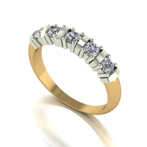 0.50ct (5x 3.0mm) Round Moissanite Set Eternity Ring