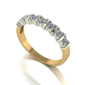 0.50ct (7x 2.5mm) Round Moissanite Set Eternity Ring