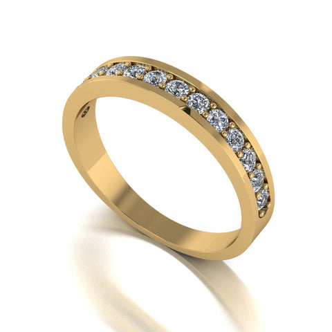 0.50ct (13x 1.8mm) Round Moissanite Set Eternity Ring