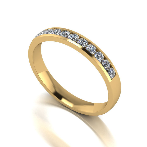 0.33ct (11x 1.8mm) Round Moissanite Set Eternity Ring