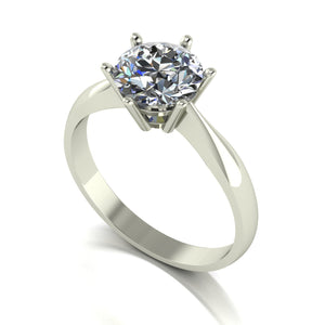 1.50ct 1x 7.5mm Round Moissanite Set Single Stone Ring