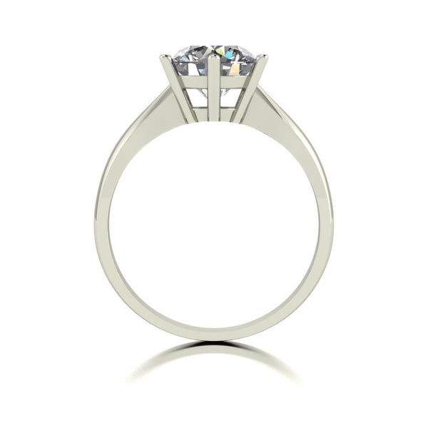 2.00ct (1x 8.0mm) Round Moissanite Set Single Stone Ring