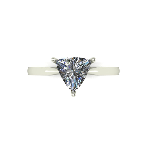 1.00ct (1x 7.0mm) Trillion Moissanite Set Single Stone Ring