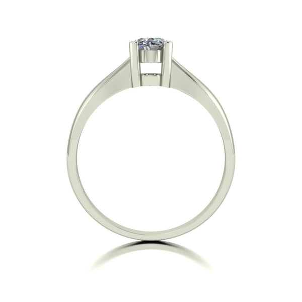 0.92ct (1x 7x5mm) Oval Moissanite Set Single Stone Ring