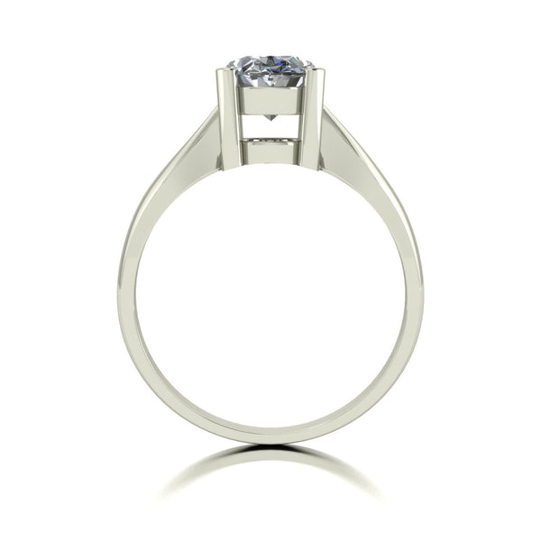 2.20ct (1x 9x7mm) Oval Moissanite Set Single Stone Ring