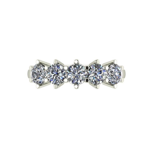 1.25ct (5x 4.0mm) Round Moissanite Set Eternity Ring