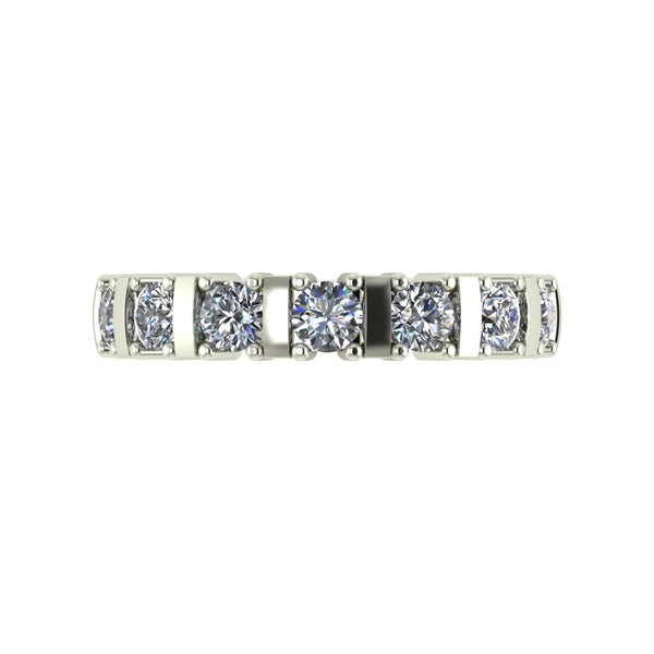 1.00ct (7x 3.25mm) Round Moissanite Set Eternity Ring