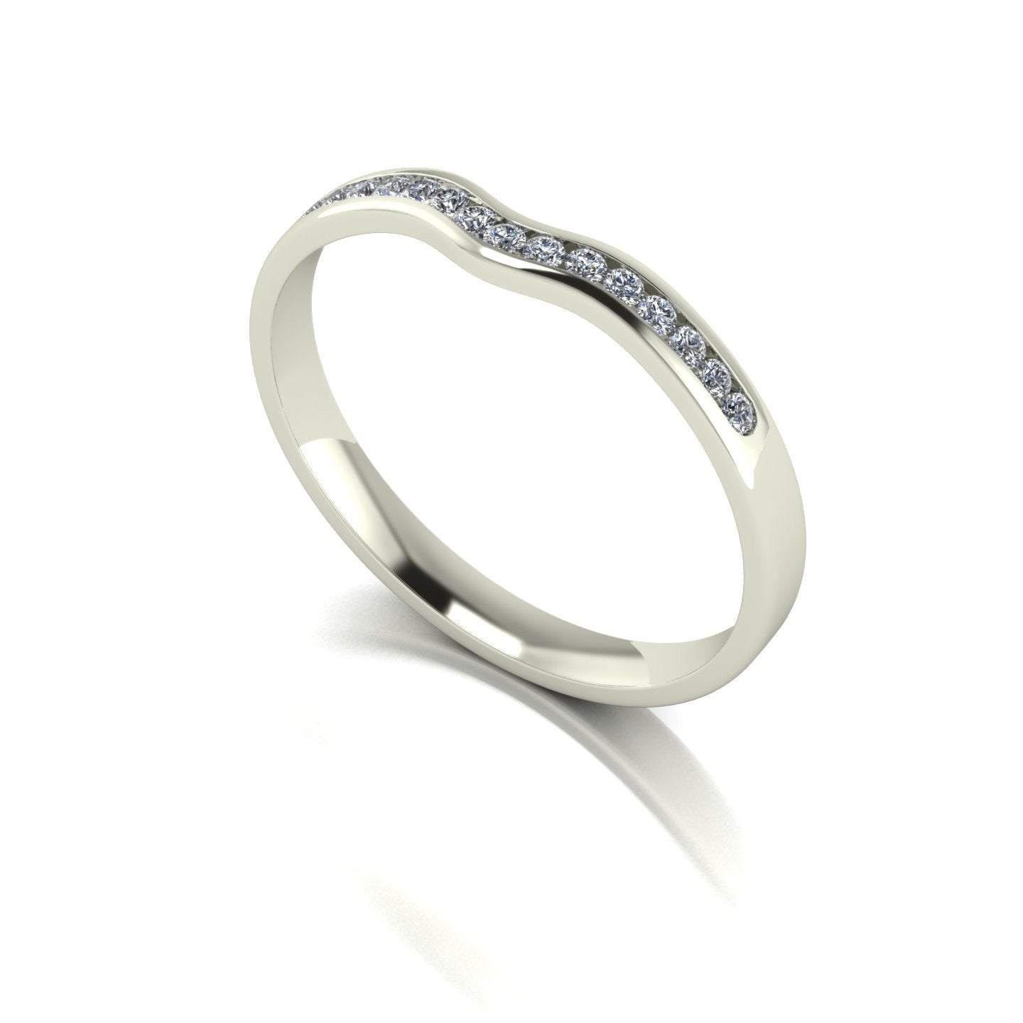 0.15ct (15x 1.3mm) Round Moissanite Set Eternity Ring