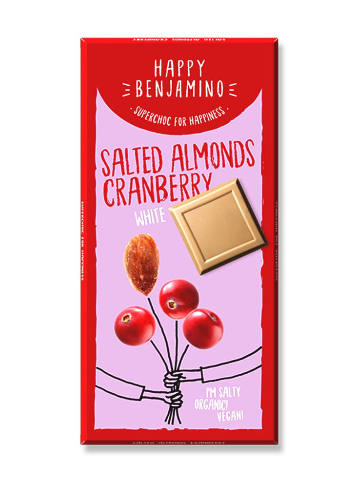 Salted Almond Cranberry (White) - Happy Benjamino