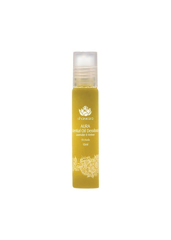 Shankara Aura Essential Oil Deodorant with Lavender and Vetiver - 10 ml