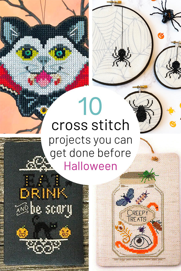 10 Super quick and easy Halloween cross stitch projects