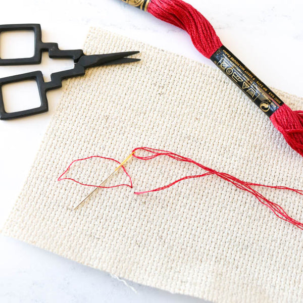 How to use the loop method to start cross stitch or embroidery without a knot