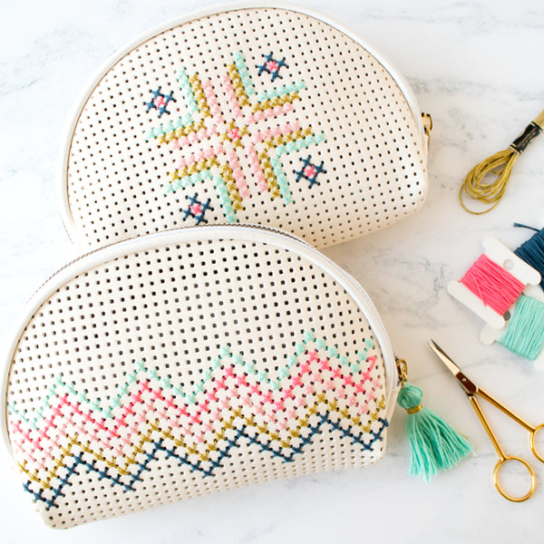 How to cross stitch a ready-made Target bag