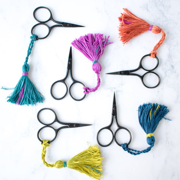 How to make a tassel scissor charm