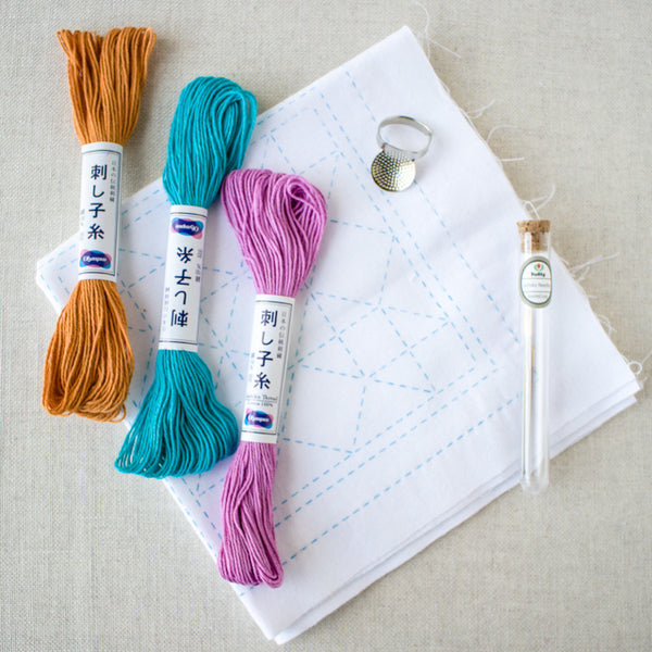 Essential tools for sashiko stitching