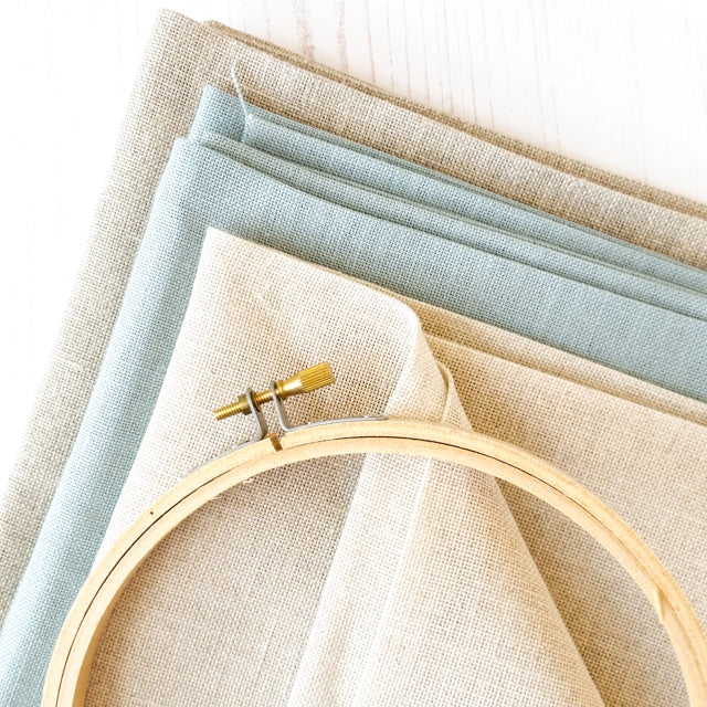 White Table Napkins For Cross Stitching