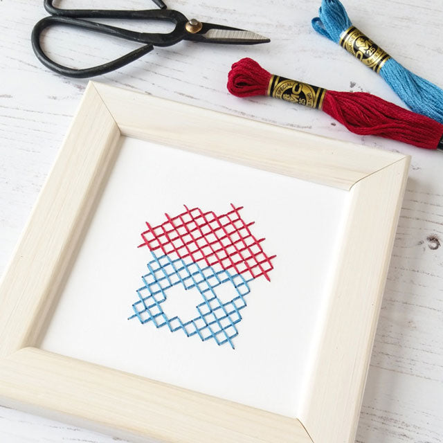 How to cross stitch on paper