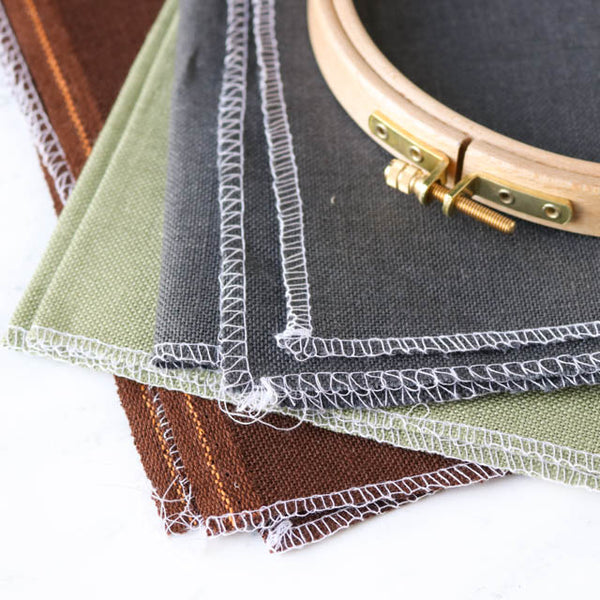 How to prepare the edges of linen and Aida for cross stitch or embroidery