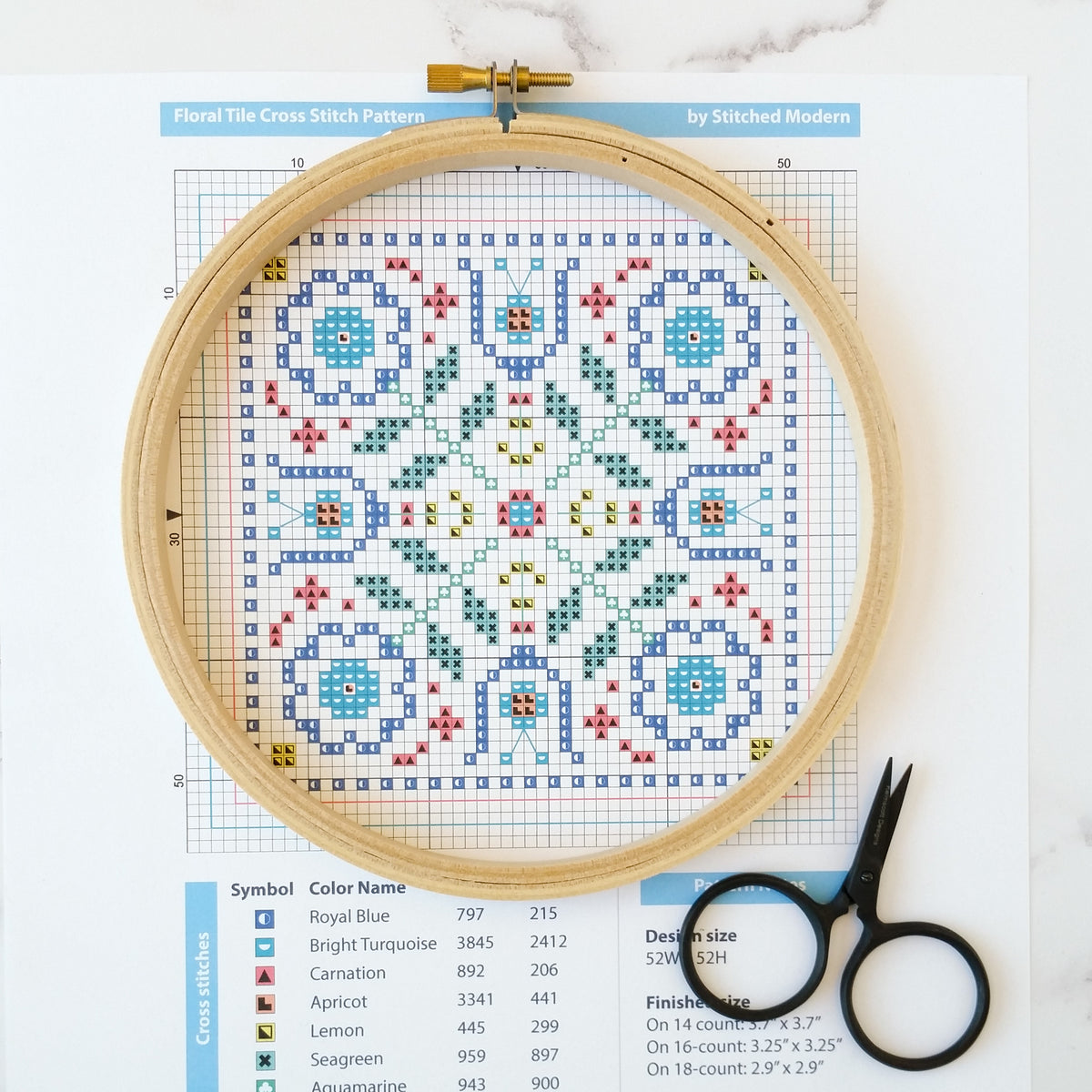 How to read a cross stitch pattern – Stitched Modern
