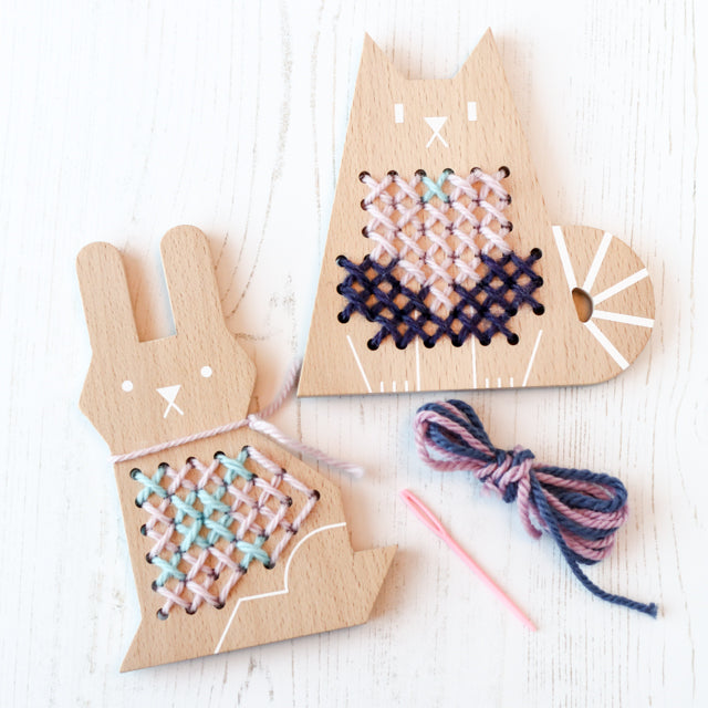 Easy wood cross stitch kits for kids