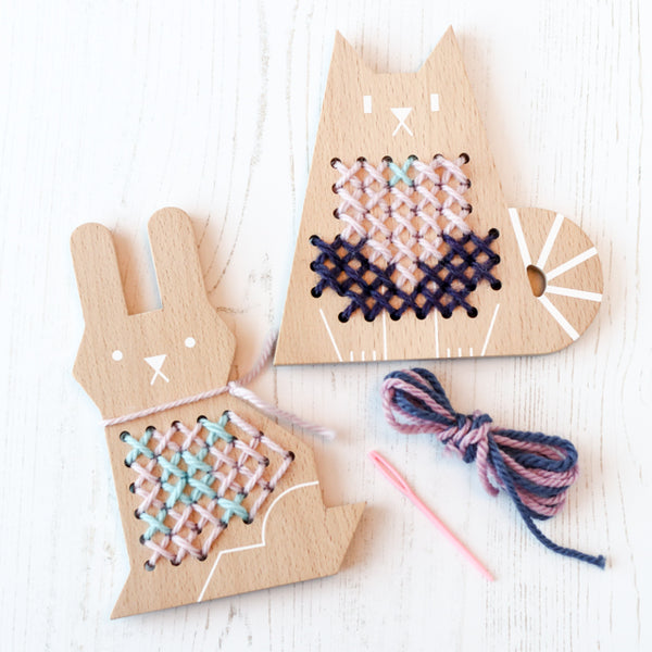 Introducing cross stitch kits for kids by Moon Picnic