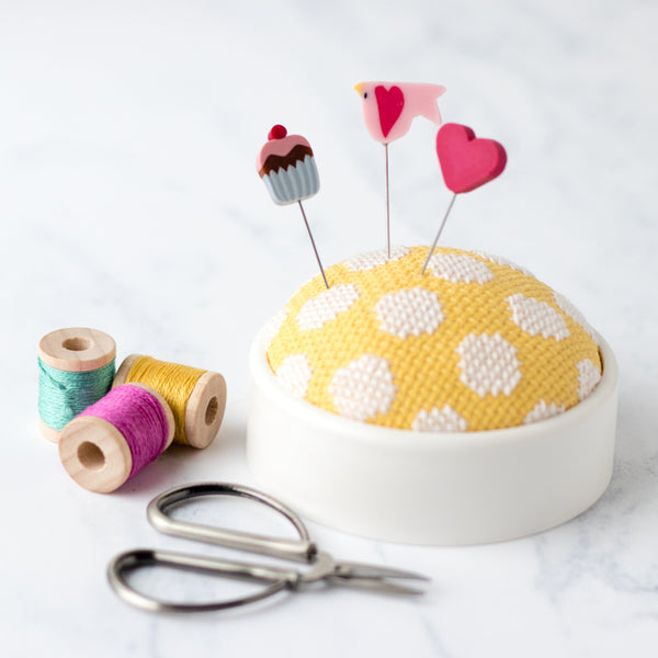 How to make a no-sew cross stitch pincushion