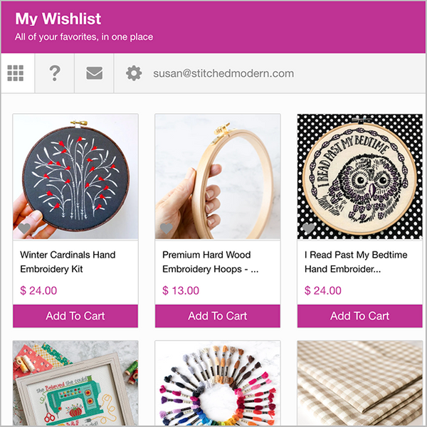 Keep track of all your favorites with our new wishlists!