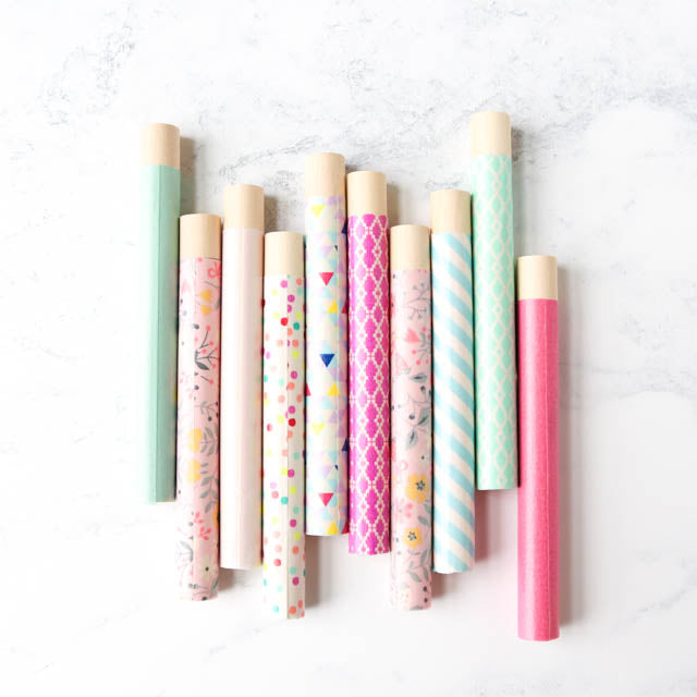 Make pretty needle storage tubes using washi tape