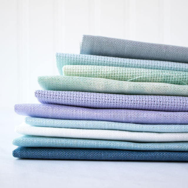 Hand Dyed Pt Evenweave  Linen or Quilt  Embroidery Blackberry Solid  Cross Stitch Fabric  Choose from Aida Lugana Cashel
