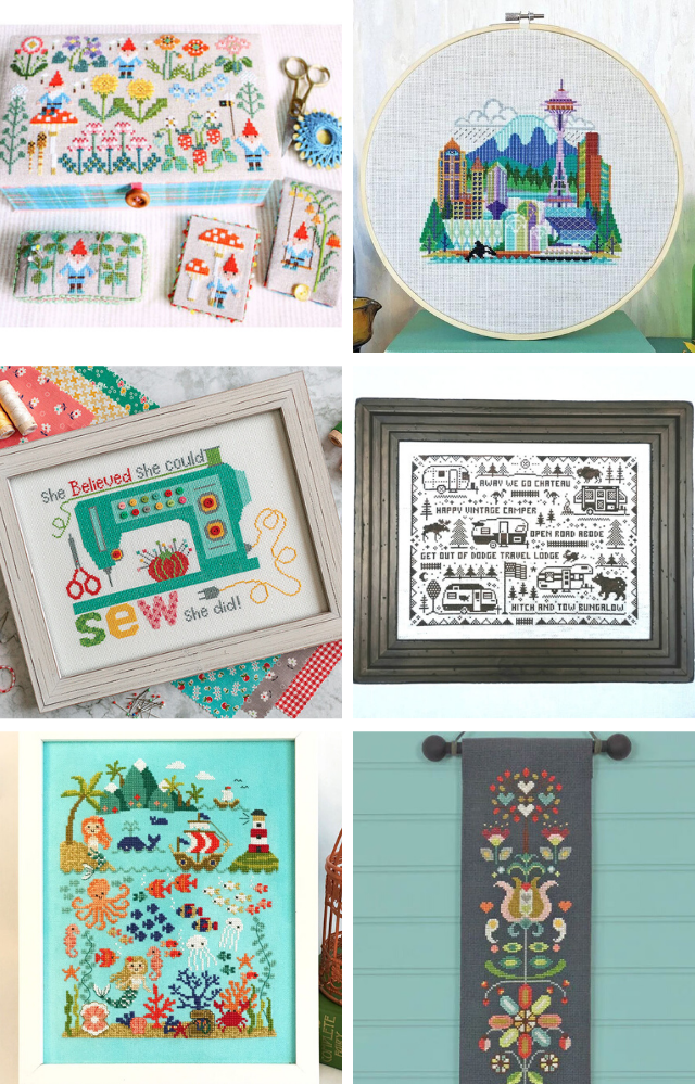 The best modern cross stitch patterns and kits