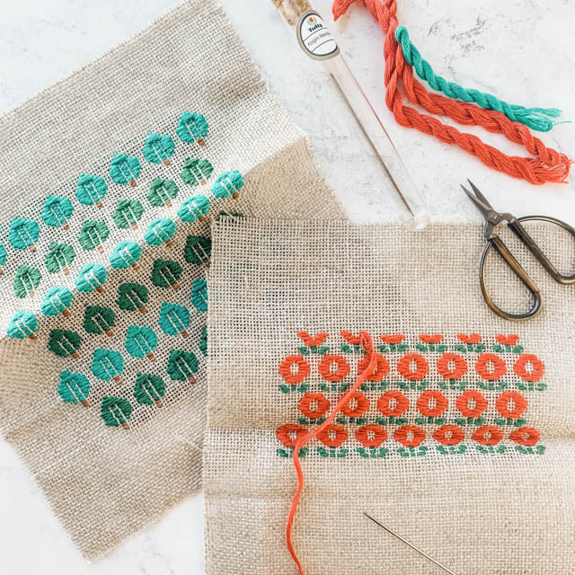 A beginner's guide to kogin embroidery - tutorial