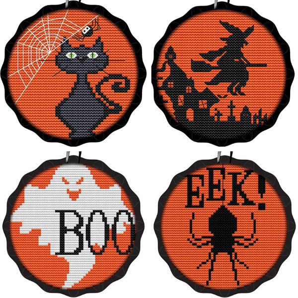 Quick and easy Halloween cross stitch projects
